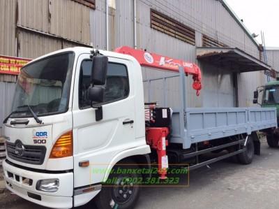 Xe tải Hino FC9JLSW 5 Tấn gắn cẩu Unic 344